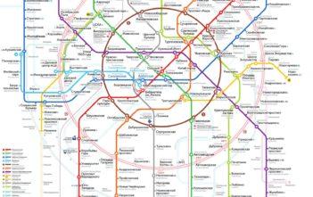 Схема метро с МЦК Москва